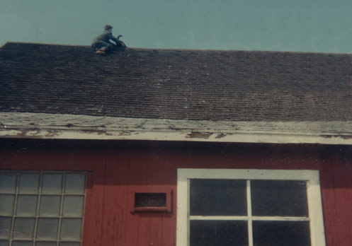 Paul rescues family cat atop the barn
